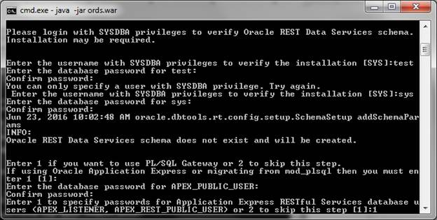 Installing ORDS in Standalone Mode – Real Tri Geek