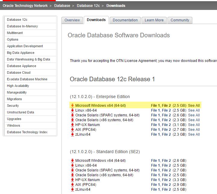 Installing Oracle 12c Database on Windows – Real Tri Geek