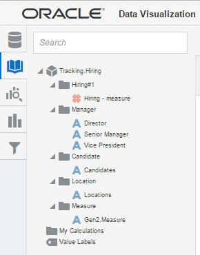 Essbase/EssCS as a Data Source in Oracle Data Visualization