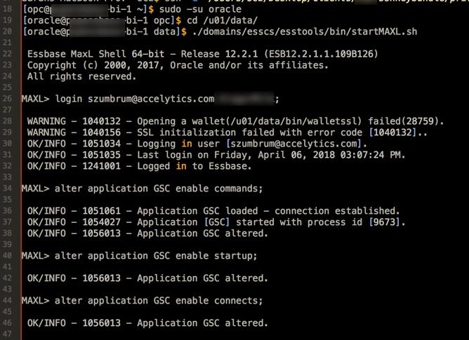 SSH'ing to OAC, Running MaxL in the Cloud, & Essbase Cloud